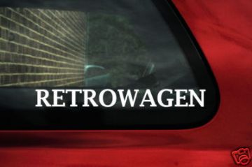 Retrowagen stickers. For Vw camper,T1, T25,T3/ Passat B3, B4 / Golf GTi / Beetle/ Caddy